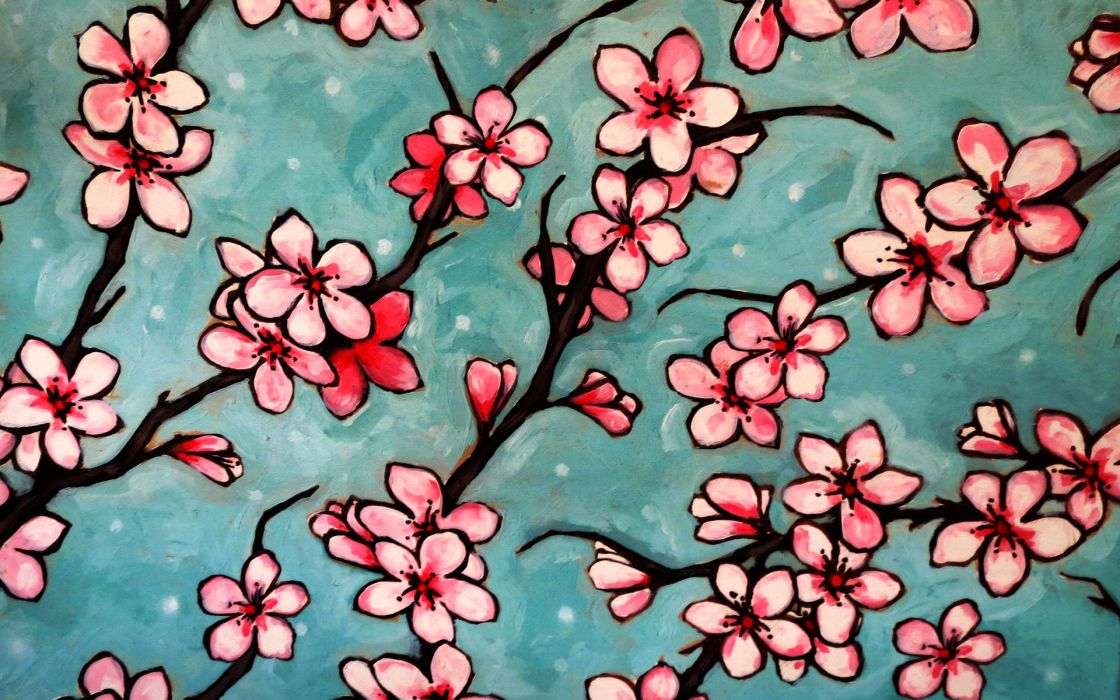 Flowers Drawing wallpaper