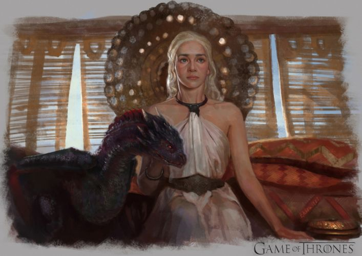 Game of Thrones Painting Art Movies Girls wallpaper
