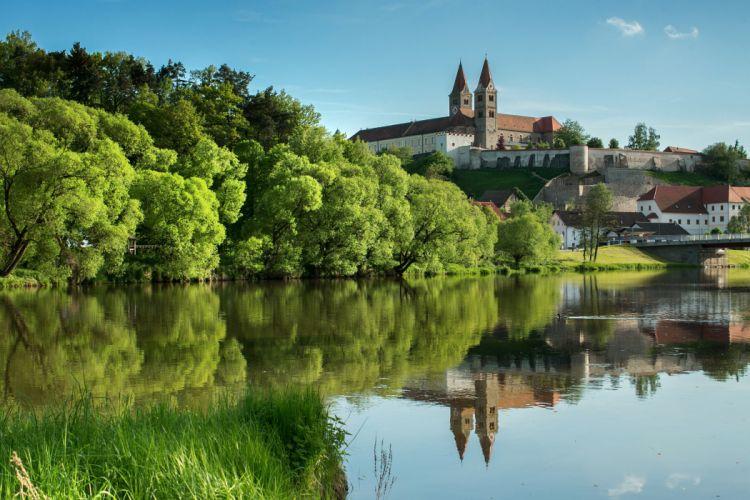 Germany Reichenbach am Regen Bavaria Cities reflection wallpaper