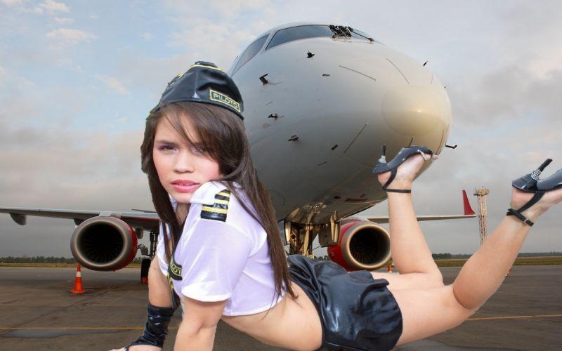 girl pilot wallpaper