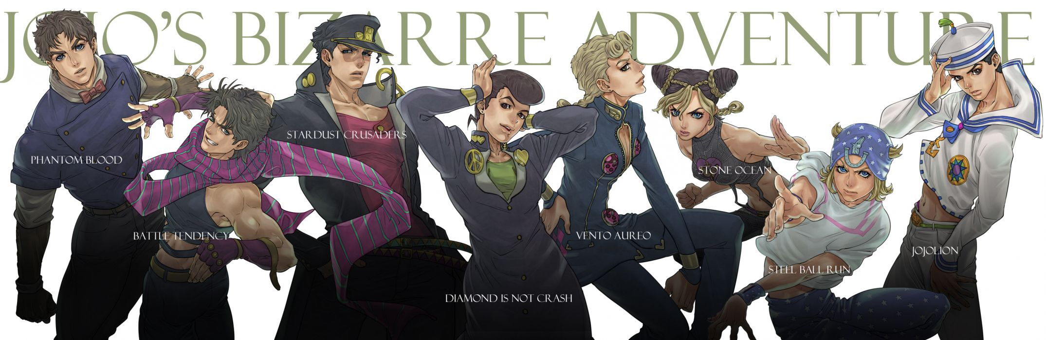 JoJo no Kimyou na Bouken multi dual wallpaper