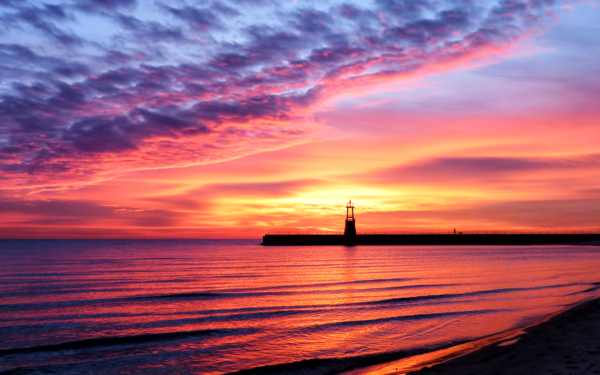The gallery for --> Beautiful Beach Sunset Landscapes