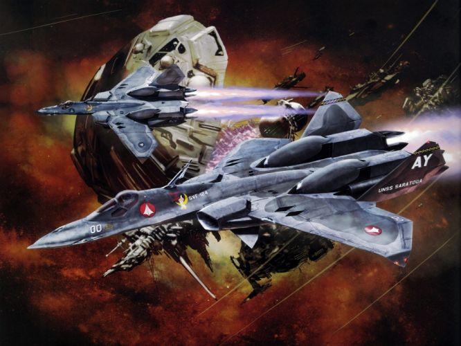 Macross Anime Mecha Jet wallpaper