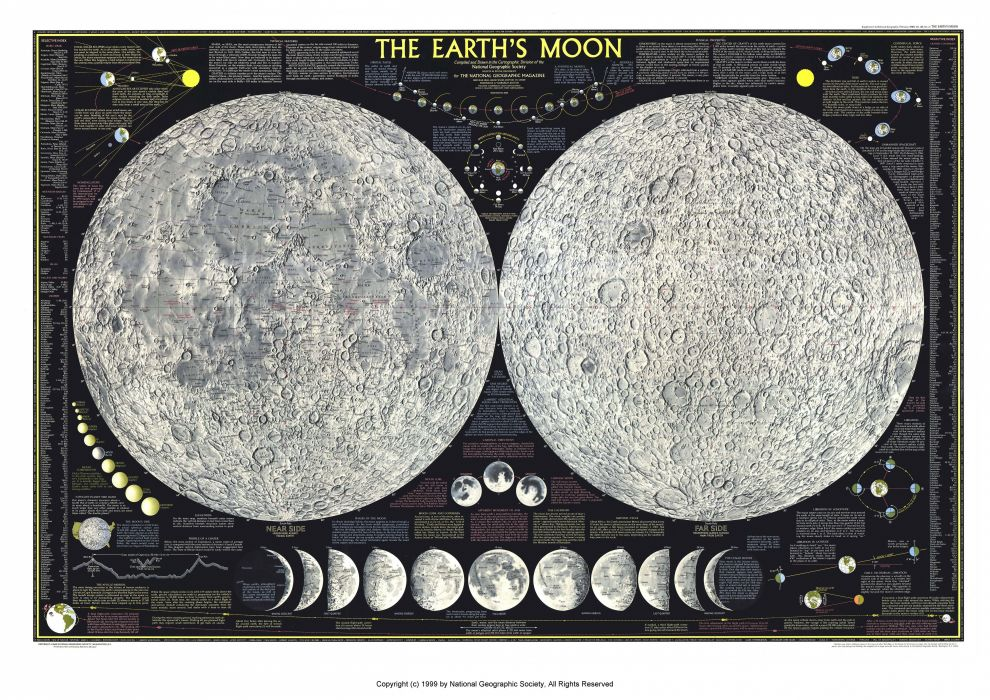 Moon Map wallpaper