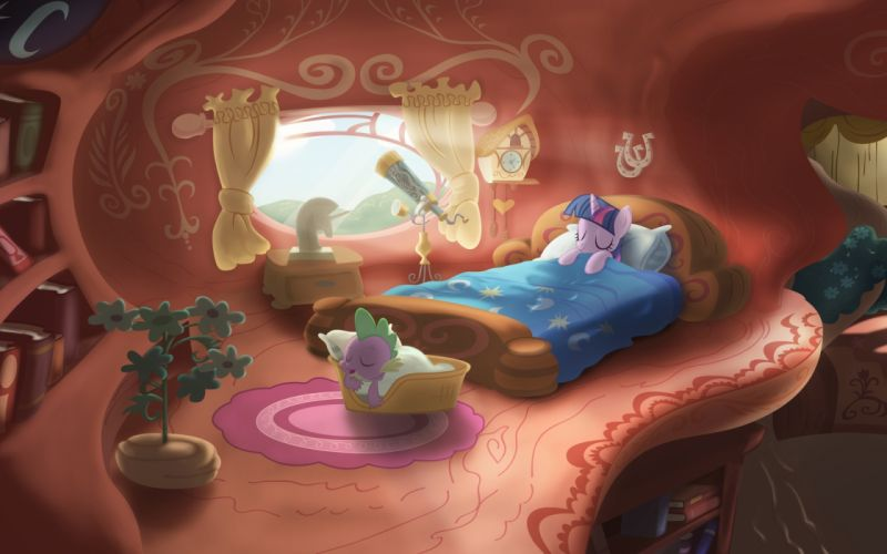 my little pony sleeping ponies twilight sparkle spike my little pony friendship is magic Knowledge Library wallpaper