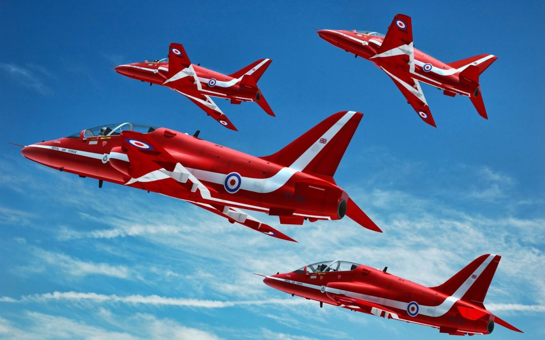 red airplanes clouds sky stripes flying military jet jets wallpaper