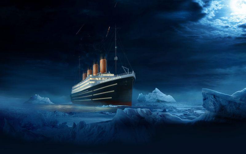 ship titanic ship titanic water night wallpaper