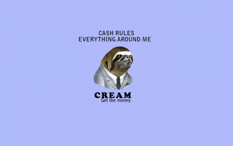 Sloth C_R_E_A_M_ Blue wtf wallpaper