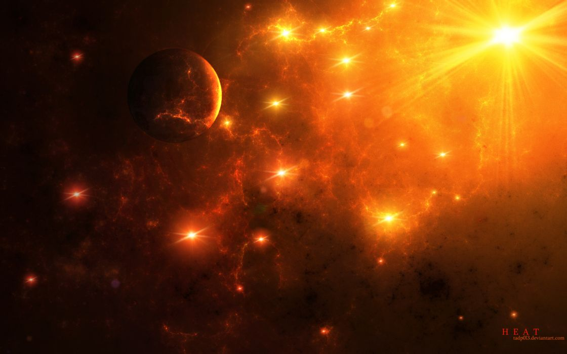 space art stars nebula planet wallpaper