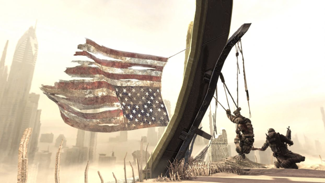 Spec Ops The Line American Flag wallpaper