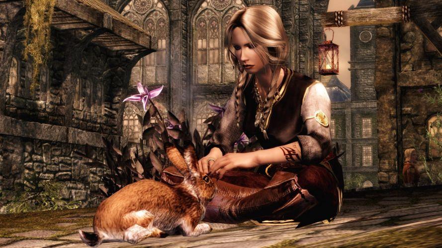 The Elder Scrolls Skyrim Rabbits wallpaper