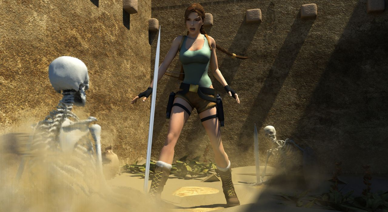 Tomb Raider Skeleton Lara Croft Games wallpaper