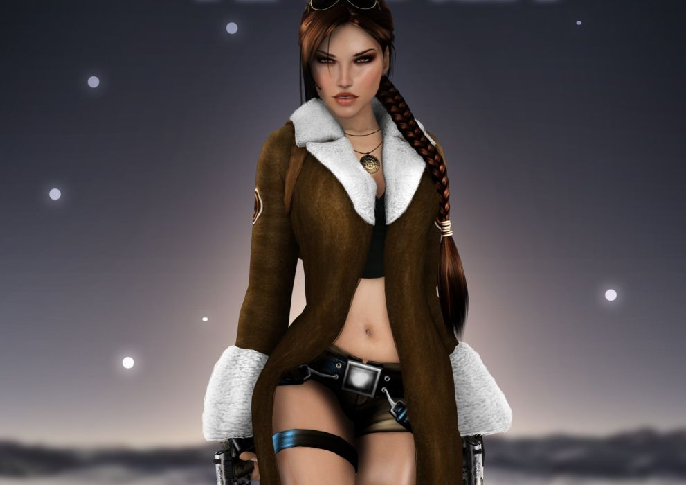 Tomb Raider Warriors Lara Croft Braid hair Games wallpaper