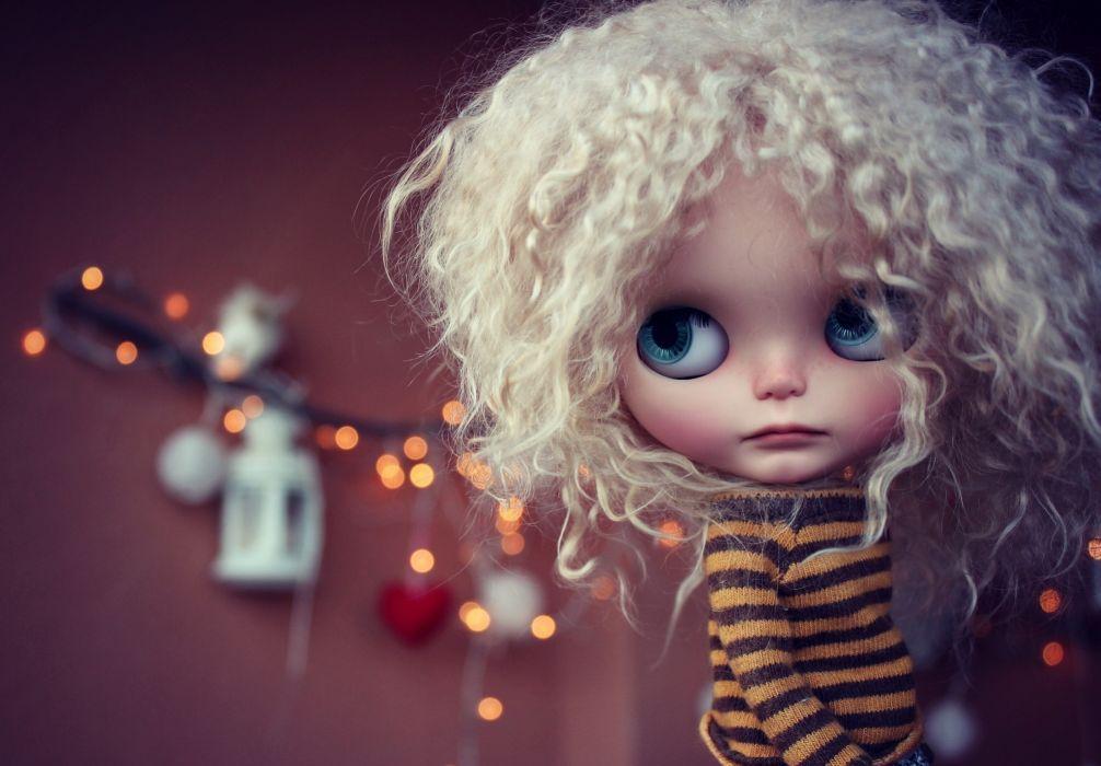 Toys Doll Hair Blonde girl Glance wallpaper