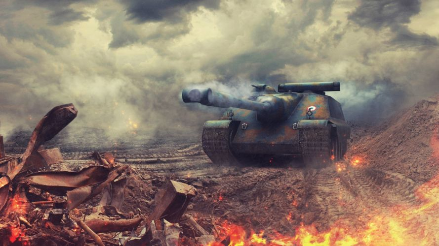 World of Tanks Tanks AMX-50 Foch wallpaper