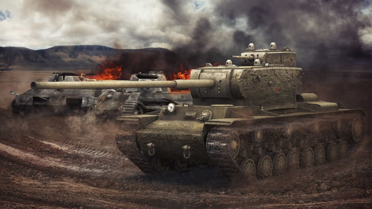 World of Tanks Tanks KB-4 Games 3D military wallpaper
