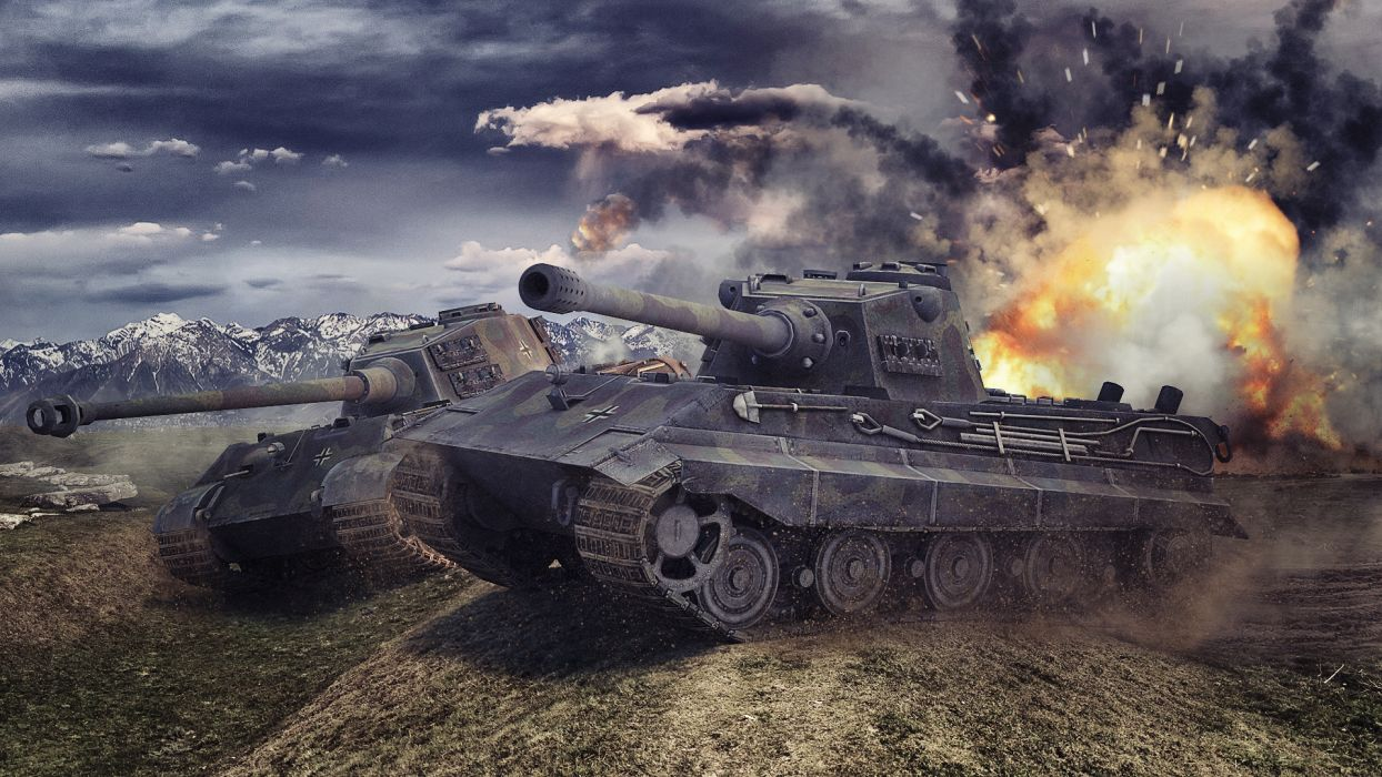 World of Tanks Tanks Tiger II E-75 Games military wallpaper