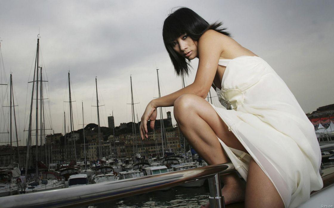 Bai Ling actress brunette women asian oriental wallpaper