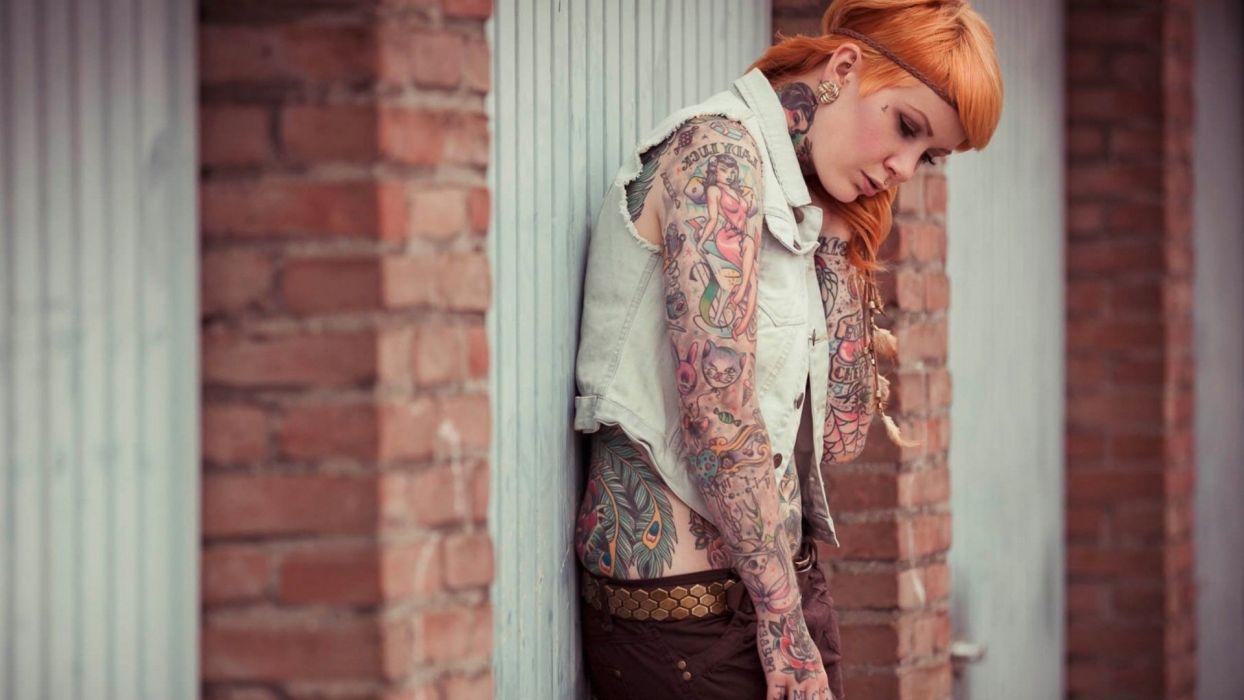 Cute Girl Tattoo tattoos women emo glam wallpaper