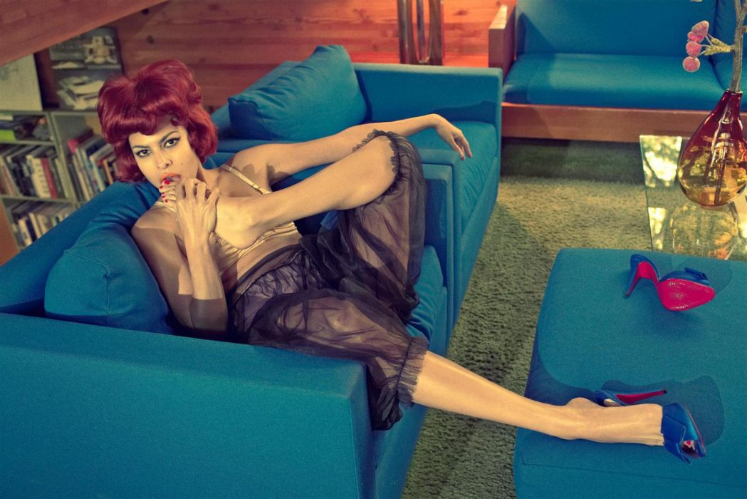 Eva Mendes actress women brunette   d wallpaper