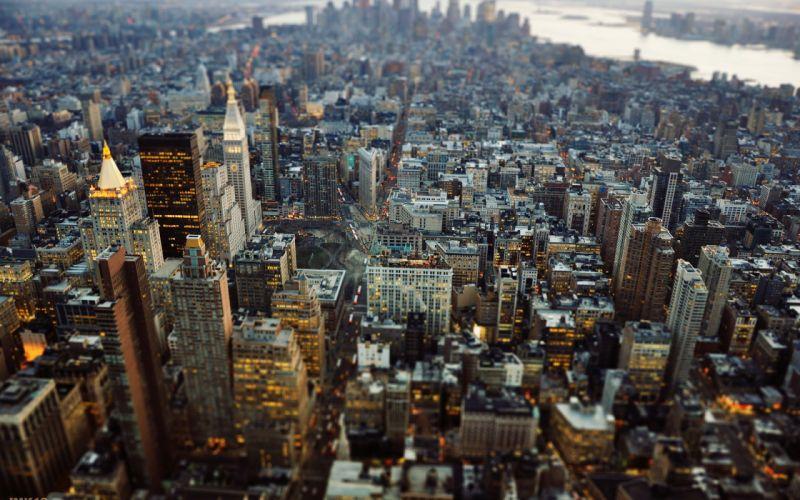 New York City Manhattan Tilt Shift wallpaper
