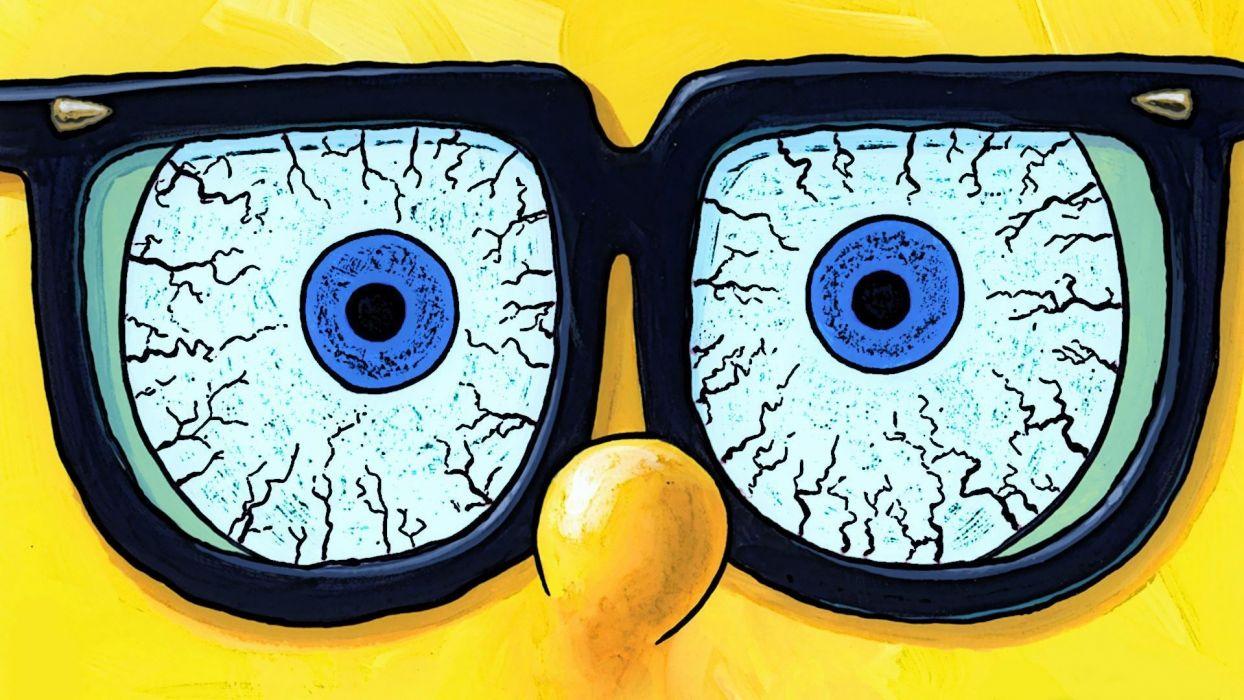 Spongebob Squarepants humor funny glasses eye eyes wallpaper