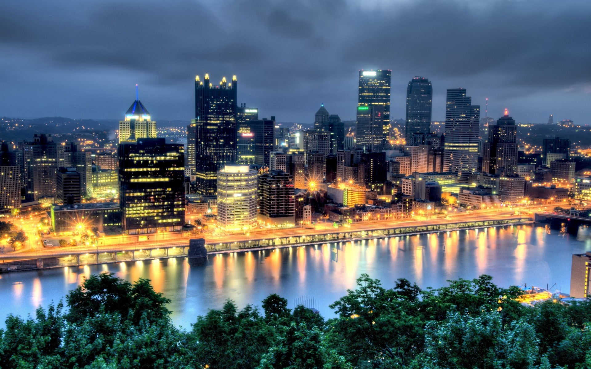 50 Beautiful Cities Pictures And Wallpapers: USA Pennsylvania Pittsburgh City Town Hdr Wallpaper