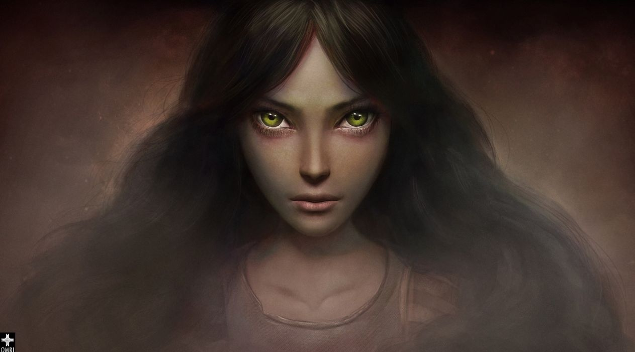 Alice American McGee's Glance Games Girls dark wallpaper