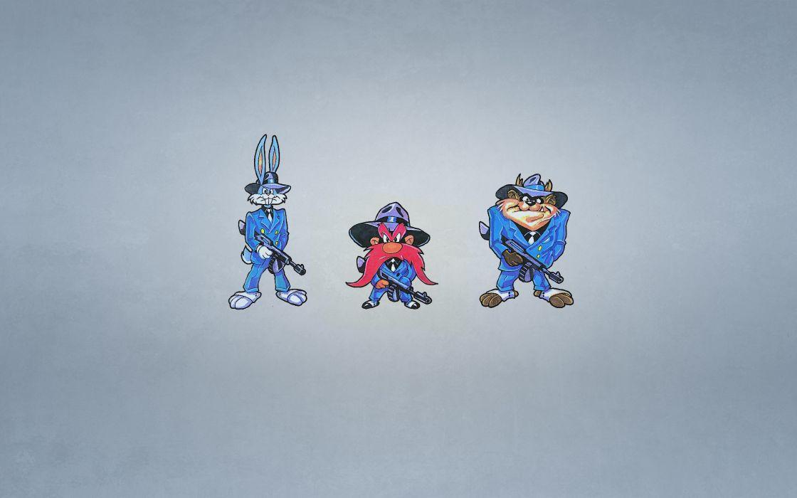 Cartoons bugs bunny yosemite sam tasman wallpaper