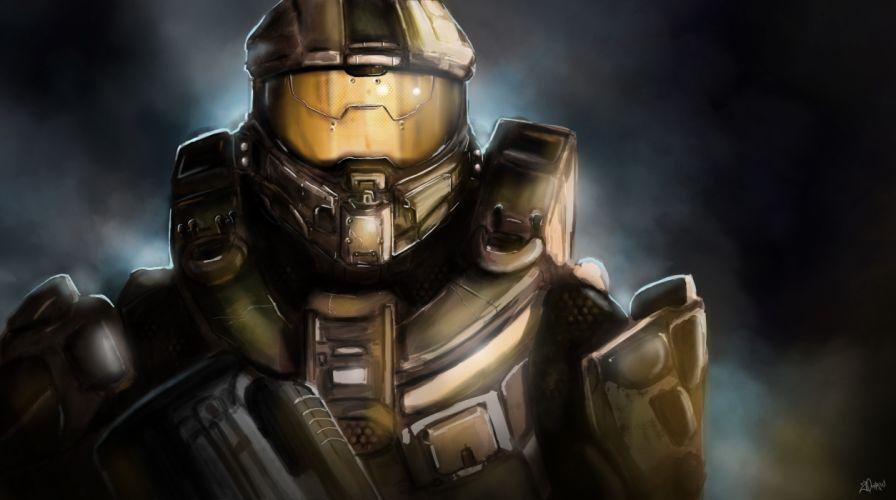 Halo Warriors 4 Armor Helmet Games wallpaper