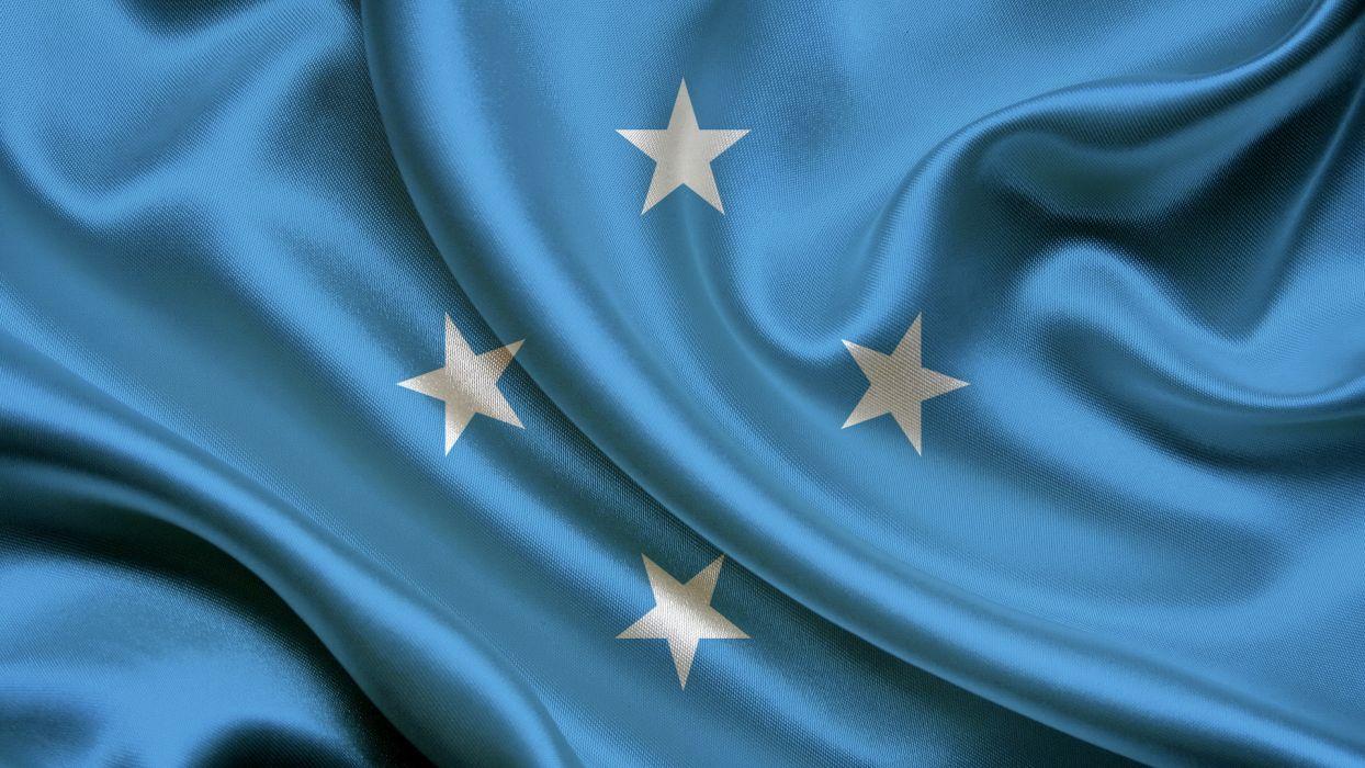 Micronesia Flag Light Blue wallpaper