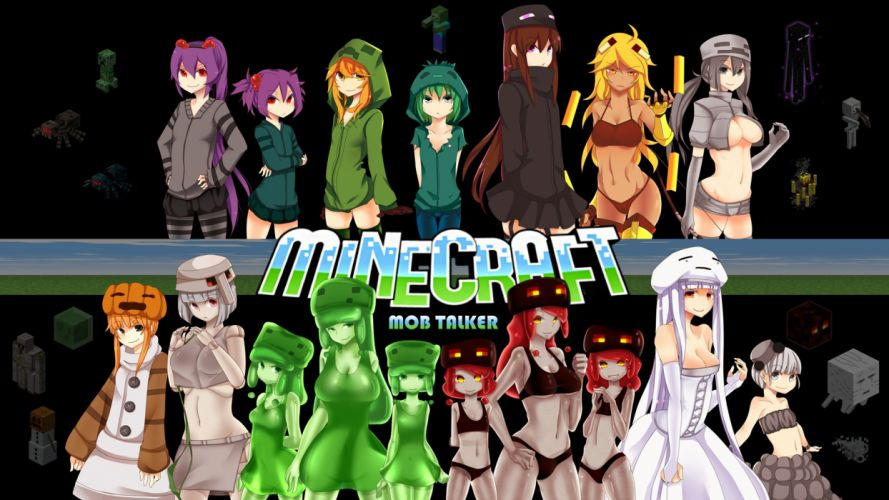 Minecraft game anime wallpaper