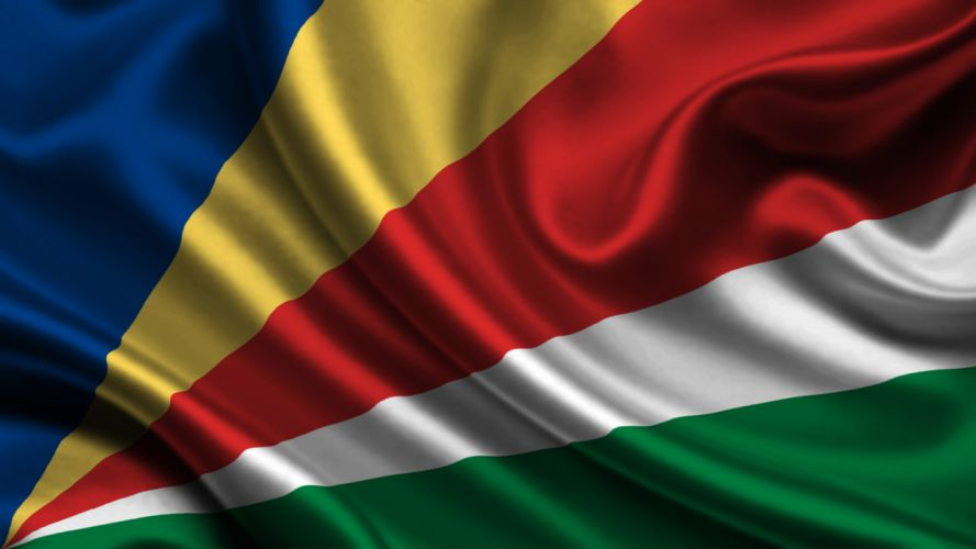 Seychelles Flag Stripes wallpaper