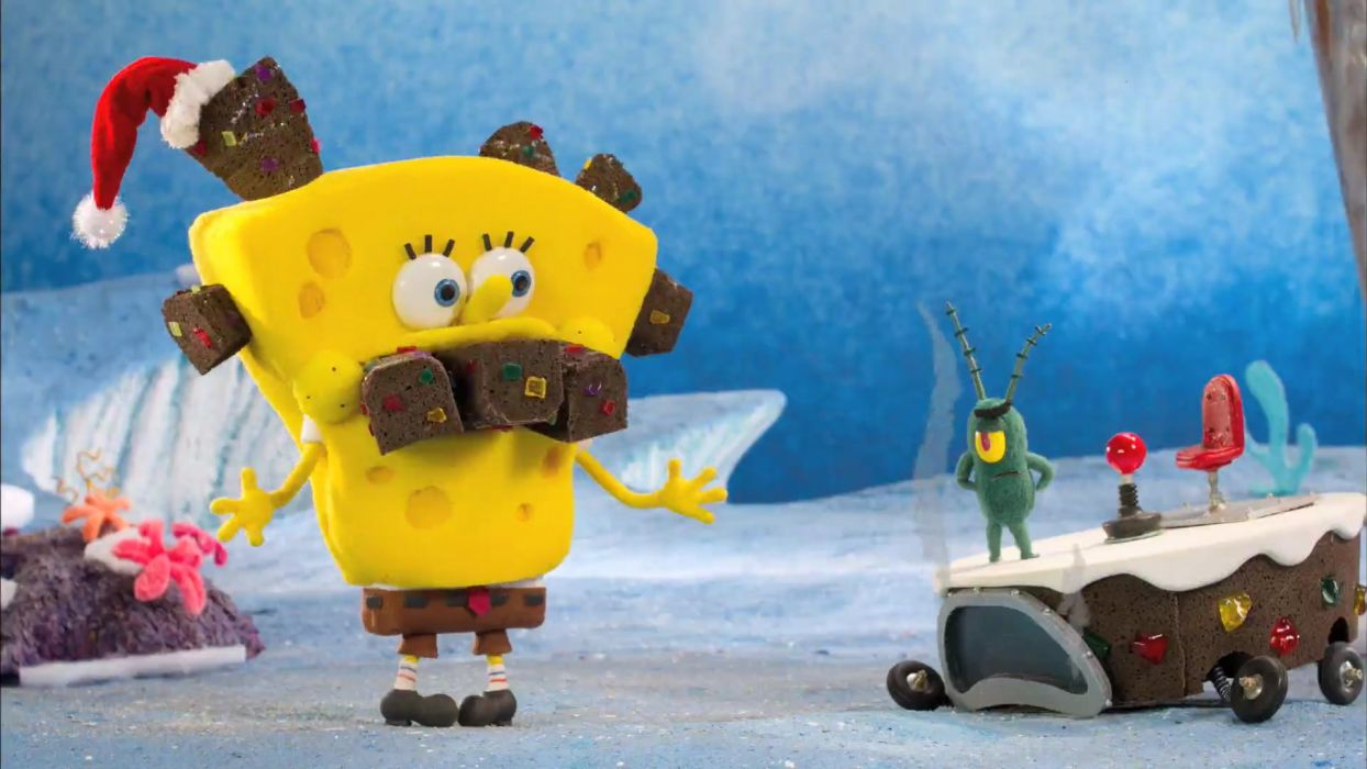 Spongebob Squarepants funny humor christmas   f wallpaper