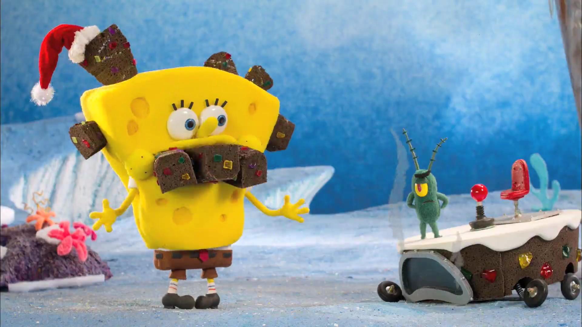 spongebob squarepants funny humor christmas f wallpaper | 1920x1080