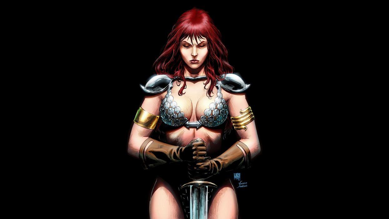 Warriors Redhead girl Fantasy Girls warrior wallpaper