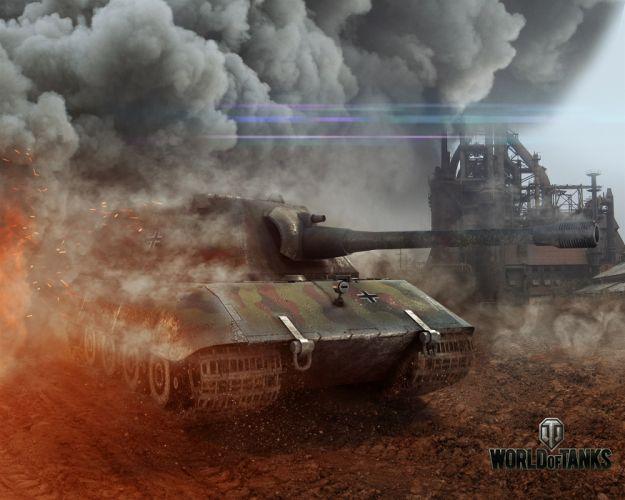 World of Tanks E-100 Smoke Games military wallpaper