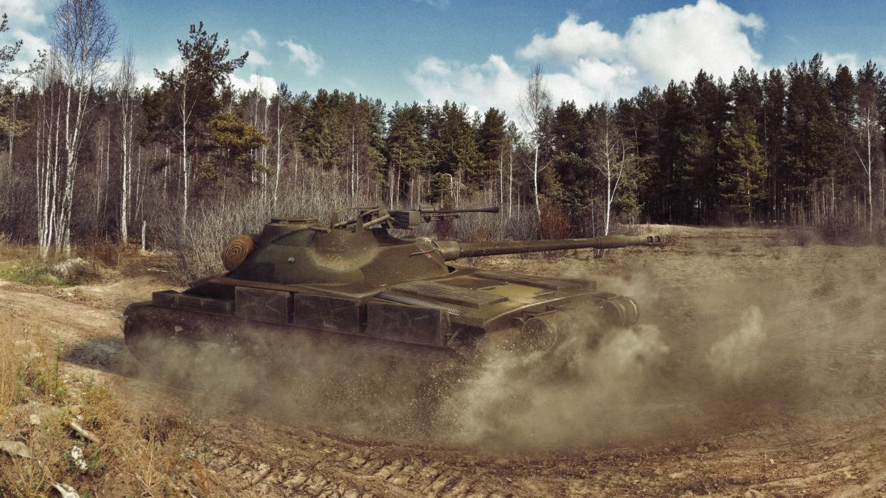 World of Tanks Forests object 907 Games military wallpaper
