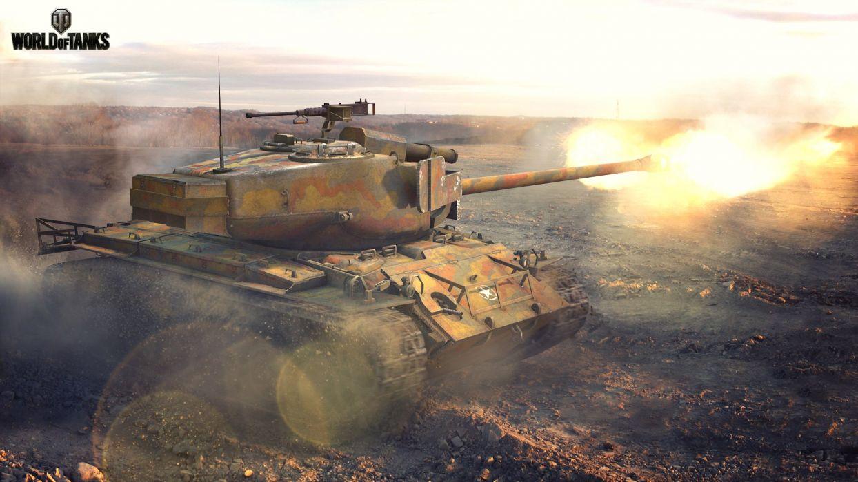 World of Tanks T26E4 Super Pershing Firing Games military wallpaper