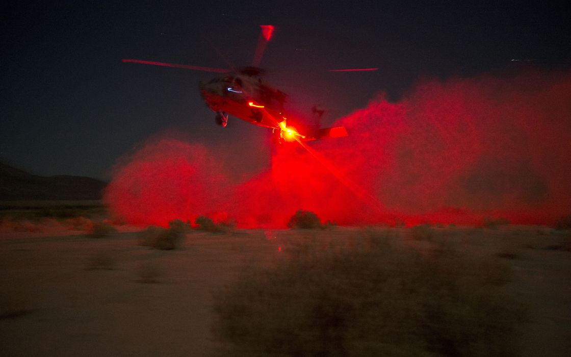 Helicopter Light Night Dust military wallpaper