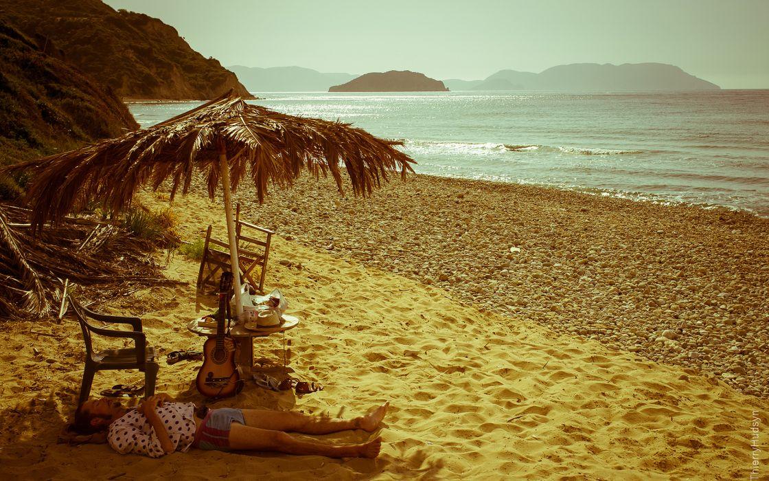 Tropical Beach Sleep Relax wallpaper