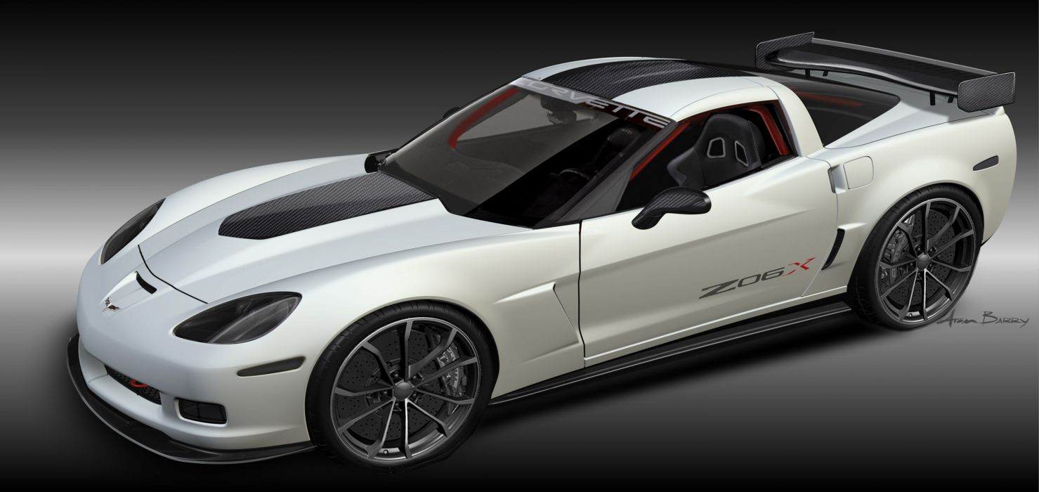 2010 Chevrolet Corvette Z06X Track Car Concept muscle supercar supercars multi dual wallpaper
