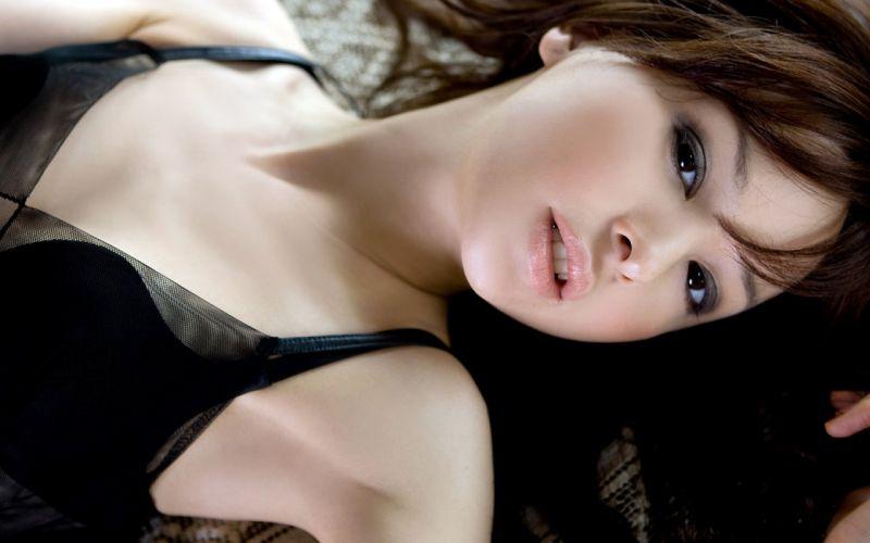 Girl Asian Beauty Brown Hair Brown Eyes Smile wallpaper