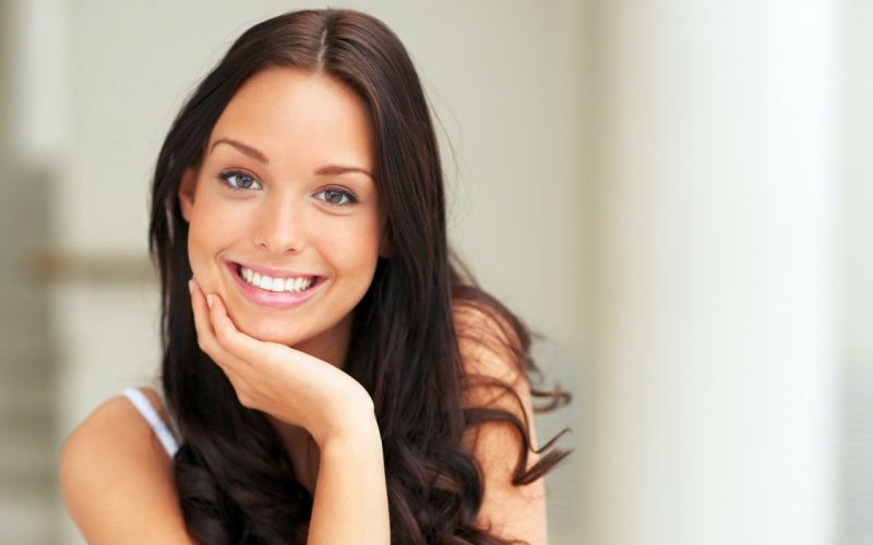 Girl Beauty Brown Hair Brown Eyes Smile wallpaper
