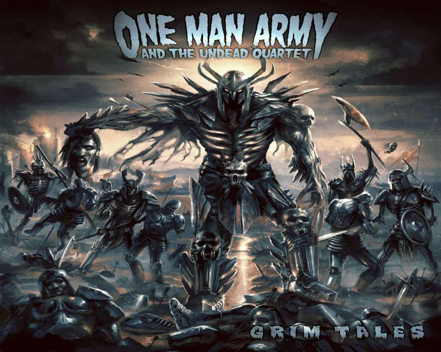 ONE MAN ARMY & THE UNDEAD QUARTET thrash death metal heavy    g wallpaper