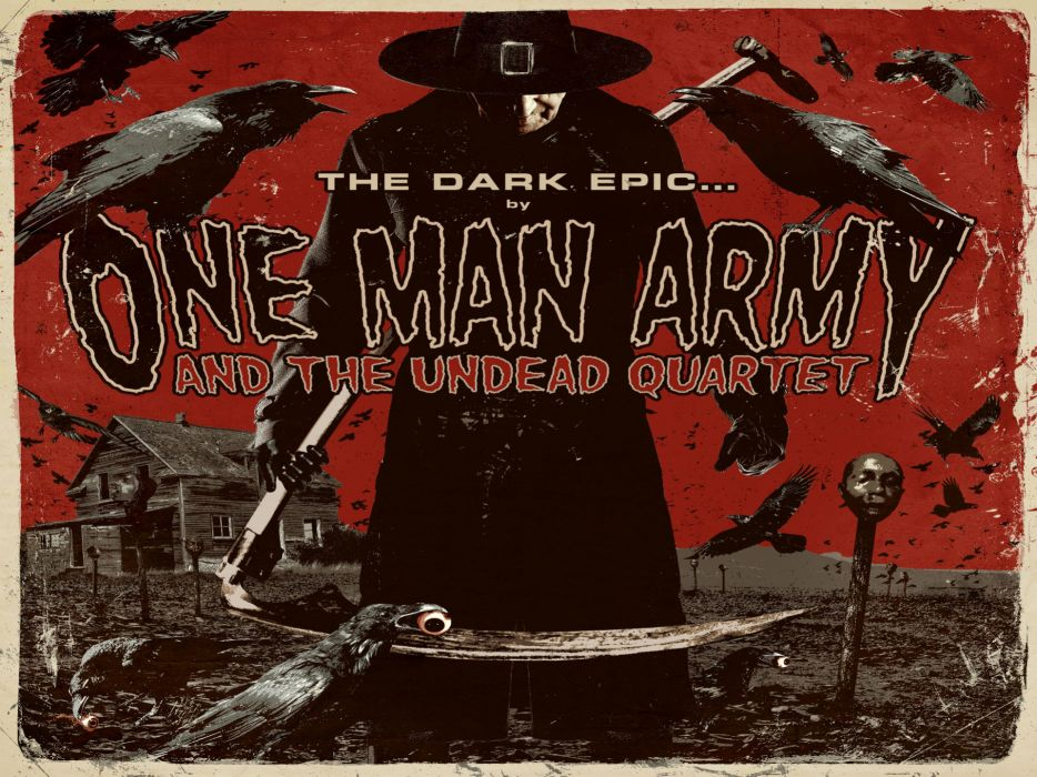 ONE MAN ARMY & THE UNDEAD QUARTET thrash death metal heavy poster posters wallpaper