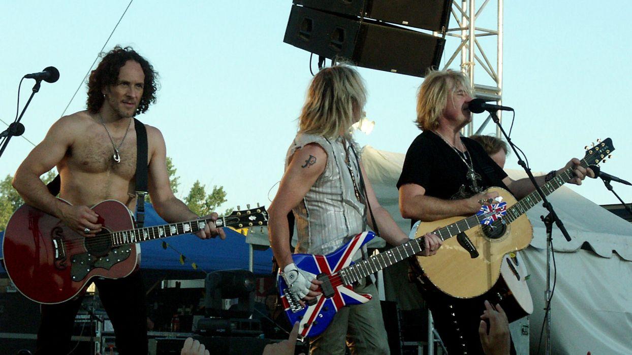 DEF LEPPARD hair metal heavy hard rock guitar guitars concert concerts microphone_JPG wallpaper