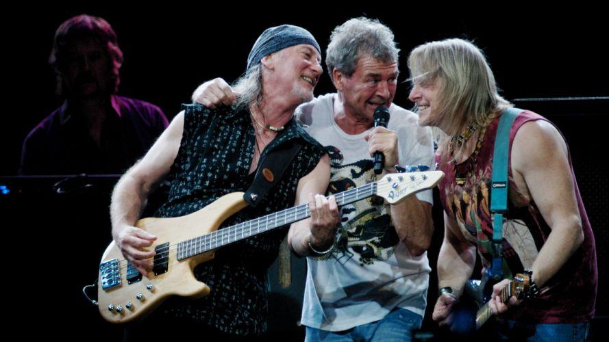 DEEP PURPLE classic hard rock guitar guitars concert concerts microphone wallpaper