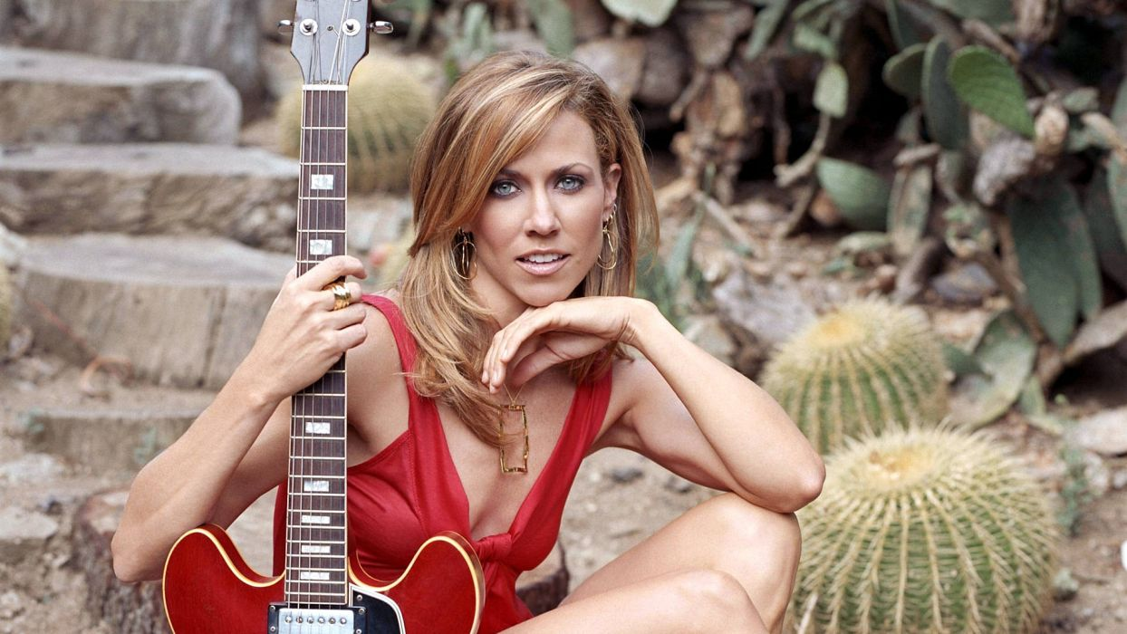 SHERYL CROW pop rock country folk women guitar guitars  g wallpaper