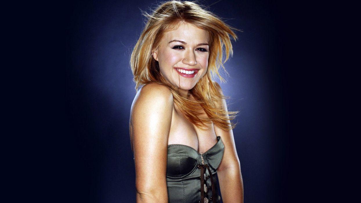 KELLY CLARKSON pop rock women girl girls blonde     g wallpaper